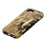 Vintage Love Romance, Art Nouveau, Alphonse Mucha iPhone 5 Case