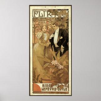 Vintage Love Romance Art Nouveau Alphonse Mucha Posters