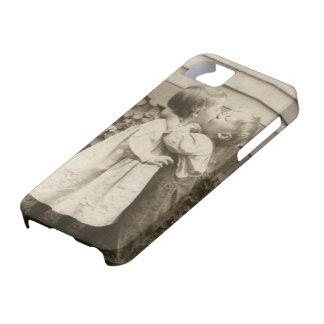 Vintage Love Romance, Children Kissing, First Kiss iPhone 5 Case