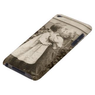 Vintage Love Romance, Children Kissing, First Kiss iPod Case-Mate Case