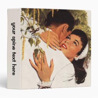 Vintage Love Romance, Couple in a Loving Embrace 3 Ring Binder