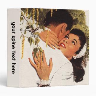 Vintage Love Romance, Couple in a Loving Embrace Binder