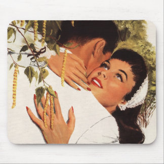 Vintage Love Romance, Couple in a Loving Embrace Mouse Pad