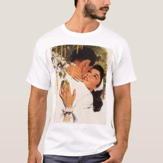 Vintage Love Romance, Couple in a Loving Embrace T-Shirt