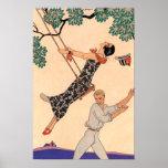 Vintage Love Romance, Escarpolette Swing Barbier Poster