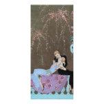 Vintage Love Romance, Fireworks Romantic Kiss Rack Card