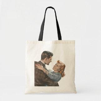 Vintage Love Romance Newlyweds Shall We Dance? Budget Tote Bag