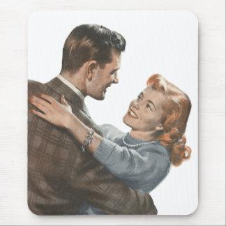 Vintage Love Romance Newlyweds Shall We Dance? Mouse Pad