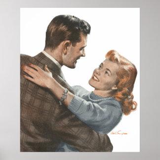 Vintage Love Romance Newlyweds Shall We Dance? Poster