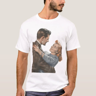 Vintage Love Romance Newlyweds Shall We Dance? T-Shirt