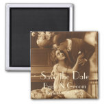 Vintage Love, Romance, Romantic, Save the Date Magnets