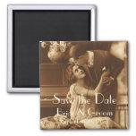 Vintage Love, Romance, Romantic, Save the Date Magnets