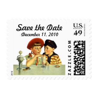 Vintage Love, Romance, Romantic, Save the Date Postage