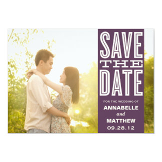 "VINTAGE LOVE | SAVE THE DATE ANNOUNCEMENT 5"" X 7"" INVITATION CARD"
