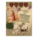 "Vintage ""Love"" Scrapbook Postcard"