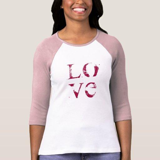 Vintage LOVE St Valentines Day Jersey T-Shirt
