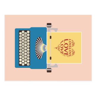 vintage Love Typewriter, Greeting card