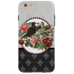 Vintage Lovebirds and Roses Tough iPhone 6 Plus Case