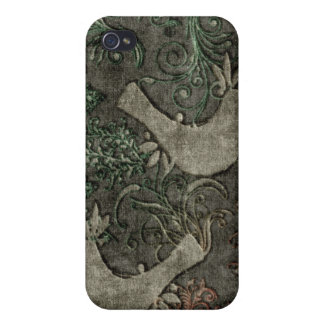 Vintage LoveBirds Embossed Print SpeckCase iPhone4 iPhone 4/4S Case