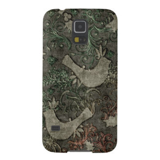 Vintage LoveBirds Embossed Samsung Galaxy Nexus Galaxy S5 Cover