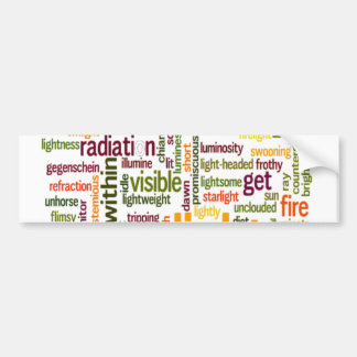 Vintage Lovely Light text Customise Product Bumper Sticker