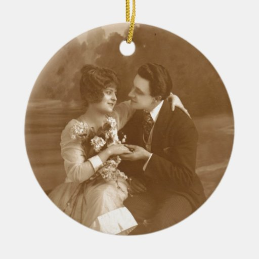 Vintage Lovers Christmas Ornament