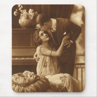 Vintage Lovers,  Love Romance Romantic Music Mouse Pad