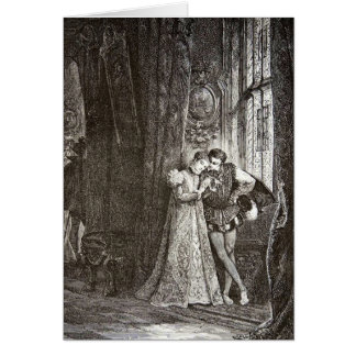 Vintage Lovers Mary Stuart and Francis II Greeting Card