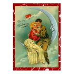 Vintage Lovers Moon Valentine Love Notes Business Card Templates