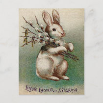 Vintage Loving Easter Greeting Holiday Postcard