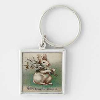 Vintage Loving Easter Greeting Keychain