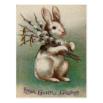 Vintage Loving Easter Greeting Postcard