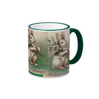 Vintage Loving Easter Greeting Ringer Coffee Mug