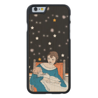 Vintage Loving Mother Baby Stars Mother's Day Carved Maple iPhone 6 Slim Case