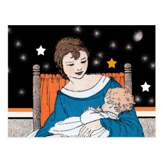 Vintage Loving Mother Baby Stars Mother's Day Postcard