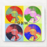 Vintage LP del arte pop Alfombrillas De Ratones