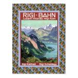 Vintage Lucerna ferroviaria suiza Rigi Bahn Tarjetas Postales