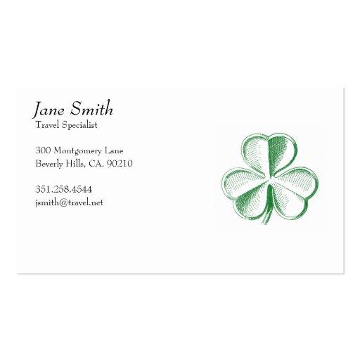Vintage Lucky Shamrock Business Cards