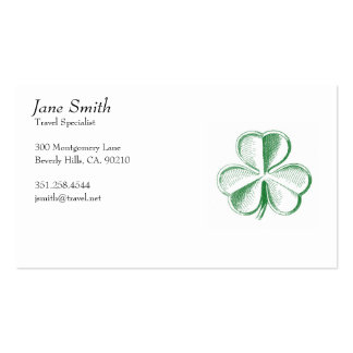 Vintage Lucky Shamrock Double-Sided Standard Business Cards (Pack Of 100)