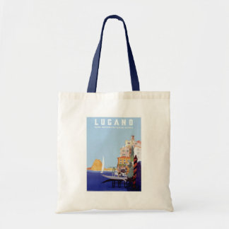 Vintage Lugano, Switzerland Travel Poster Tote Bag