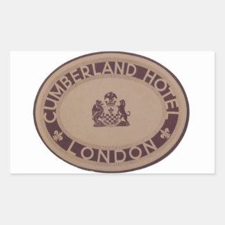 Vintage Luggage Label: Cumberland Hotel Rectangular Sticker