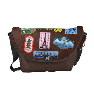 Vintage Luggage World Travel Suitcase Stickers Courier Bag