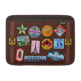 Vintage Luggage World Travel Suitcase Stickers Sleeve For MacBook Air