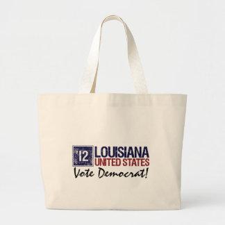 Vintage Luisiana de Demócrata del voto en 2012 - Bolsas Lienzo