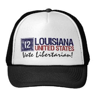 Vintage Luisiana del libertario del voto en 2012 - Gorros Bordados