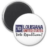 Vintage Luisiana del republicano del voto en 2010  Imán Para Frigorífico