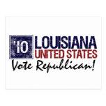 Vintage Luisiana del republicano del voto en 2010 Postal