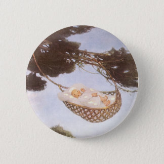 Vintage Lullaby, Rock Bye Baby Jesse Willcox Smith Button