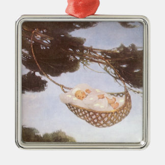 Vintage Lullaby, Rock Bye Baby Jesse Willcox Smith Metal Ornament