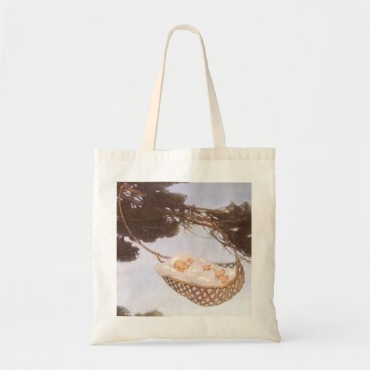 Vintage Lullaby, Rock Bye Baby Jesse Willcox Smith Tote Bag